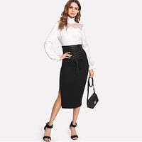 THE SIDE OFFICE SKIRT