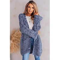 More To Say Open Front Cardigan (Blue)