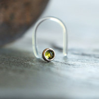 2mm Olive Green Nose Stud