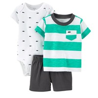 Carter's Striped Tee & Shorts Set - Baby Boy, Size: