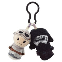 Hallmark Star Wars Rey and Kylo Ren Itty Bittys Clippys
