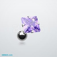 Square Gem Crystal Cartilage Earring