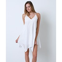 Soaking It All In Dress- White Lace