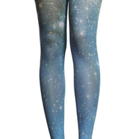 Blue Galaxy Pantyhose Design 4005