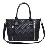 Black Tote Shoulder Handbag