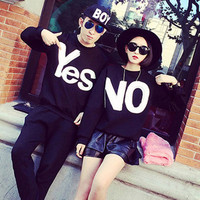 Yes and NO Couple T-shirt