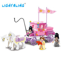 Ligtaling Royal Carriage Wagon Building Blocks Princess Minifigures Girl Game Kids Brick Toys Compatible with Friends