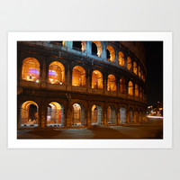 Colosseum - Rome, Italy Art Print by Claude Gariepy