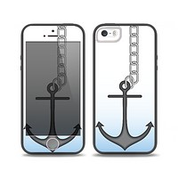 The Gray Chained Anchor Skin Set for the iPhone 5-5s Skech Glow Case