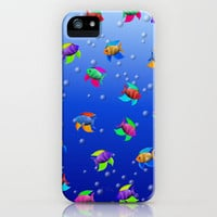 Bright Tropical Fish iPhone & iPod Case by FlaminCat Designs