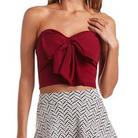BOW-FRONT CROPPED TUBE TOP