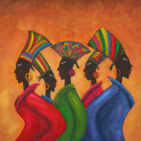 African Garb Oil Painting