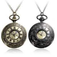 Man Pocket Watch  Roman Numerals Fob Vintage