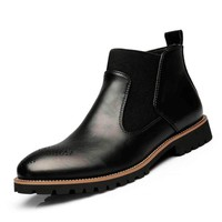 2018 New Genuine Leather Ankle Boots for Men