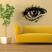 Housewares Wall Vinyl Decal Nice Eye Girl Woman Home Art Decor Kids Nursery Removable Stylish Sticker Mural Unique Design for Any Room
