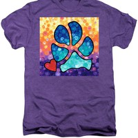 Puppy Love - Colorful Dog Paw Art By Sharon Cummings Premium T-Shirt