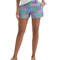 3 1/2 Inch Derby Patchwork Printed Shorts