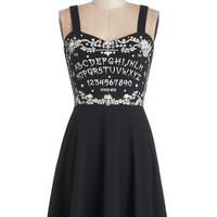 ModCloth Vintage Inspired Short Length Sleeveless A-line Spell Me a Story Dress