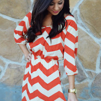 I Meant What I Said Dress: Orange | Hope's
