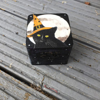 Black cat spell box witch gift samhain yule