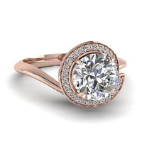 AMAZING 1.56CT ROUND SOLITAIRE STUD 925 STERLING SILVER ENGAGEMENT RING FOR HER