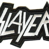 Slayer Iron-On Patch White Letters Logo