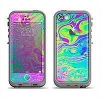 The Neon Color Fushion Apple iPhone 5c LifeProof Fre Case Skin Set