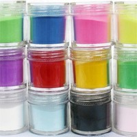 350buy 12 Colors Acrylic Powder Builder Nail Art Jumbo Size