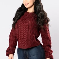 Kill My Dreams Sweater - Burgundy