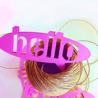 Hello Pop Up Bubble -- Qty 25 Tags -- Scrapbooking, Business Tags, Arts Crafts -- Homemade Paper Goods -- Request Any Color or Size