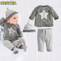 Retail new style 2016 fall and spring clothes baby boys girls child sports suit three suit (jacket + pants + hat) Free shipping