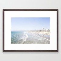 Santa Monica Beach Framed Art Print by CMcDonald