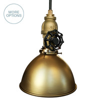 "Factory 7"" Vintage Valve Pipe Pendant Light"