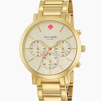 Kate Spade Gramercy Grand Chronograph Watch Gold ONE