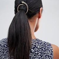 Orelia Halloween snake open circle hair clip at asos.com