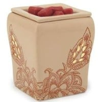 Candle Warmers Etc. Illumination Square Candle Warmer, Desert Flora