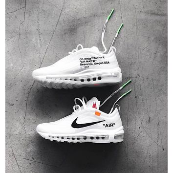 Nike Air Max 97 x OFF-WHITE Fashion Running Sneakers Sport Shoes