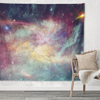 Colorful Space Galaxy Trendy Boho Wall Art Home Decor Unique Dorm Room Wall Tapestry Artwork