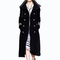 Winter fashion new lapel in the long section of wool jacket Coat woman