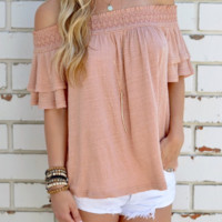 Trumpet Sleeve Strapless Loose Top  12221
