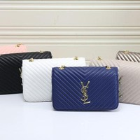 YSL 2017 new fashion stripe leather Hand bag Shoulder Bag [110019543055]