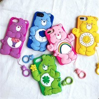 Care Bears soft 3D case for iPhone