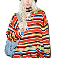 Wildfox Couture Mexican Blanket Lenon Sweater Multi