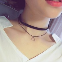 Gift Shiny Stylish Jewelry New Forever21 Korean Pendant Chain Choker [7587087111]