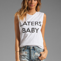 Friend of Mine Laters Baby Tank in White from REVOLVEclothing.com