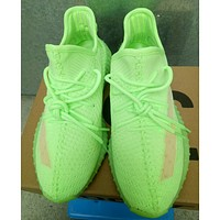 ADIDAS 350 V2 Hot Sale Green Luminous Sole Couple Casual Sneakers