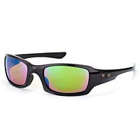 mieniwe? Cheap Oakley Fives Squared Sunglasses Polished Black Polarized Prizm Shallow Water