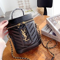 Hipgirls YSL Hot Sale New Women's Letter Buckle Bucket Bag