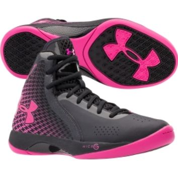 Under Armour Women's Micro G Torch 3 Basketball Shoe - Black/Pink | DICK'S Sporting Goods
