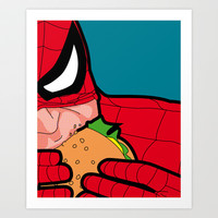 The secret life of heroes - Spiderfood Art Print by Greg-guillemin